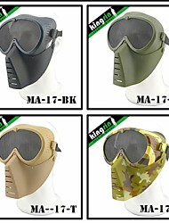 MA-17 Airsoft Tactical Safety Mask with Mesh Goggle