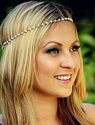Bohemian Pearl Head Chain Jewelry Forehead Dance Headband
