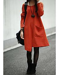 più nuovo coreano causale modo allentato irregolare grande vestito cortile delle donne d'azione