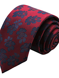 Accessories Ties Polyester Burgundy
