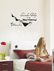 настенные наклейки наклейки на стены, прачечная сегодня английских слов&цитирует наклейки ванной комнаты PVC