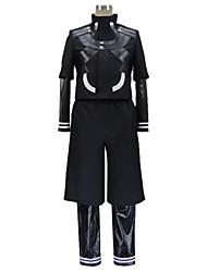 Inspirado por Tokyo Ghoul Ken Kaneki Animé Disfraces de cosplay Trajes Cosplay Retazos Manga Larga Leotardo Chaqueta Pantalones Para
