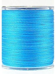 300M / 330 Yards PE geflochtene Leine / Dyneema Angelleine Blau 100LB 0.50mm mm FürSeefischerei / Fliegenfischen / Köderwerfen /
