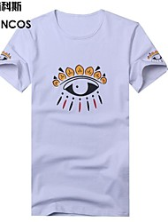 Mannen T-shirt voor mannen jassen mooie ogen decoratie