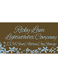 Personalized Product Labels / Address Labels Chocolate Brown Pattern of Film Paper
