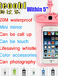 """Tteoobl T-9D 20M PVC 5"""" Mobile Phone Waterproof Pouch Underwater Dry Case Bag For Iphone 5 5S Samsung Galaxy S4 S3"""