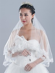 Lace Squins Headpieces with Veil Tulle Bride Wedding/Prom Veil