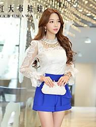Pink Doll®Women's Casual/Lace Long Sleeve Regular Shirt