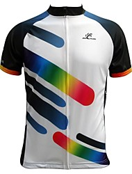 Jesocycling® Men's Spring And Summer 100% Polyester Short Sleeve Cycling Jersey