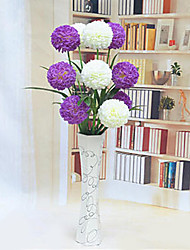 White Purple Mixed Hygrangeas Artificial Flowers With Vase