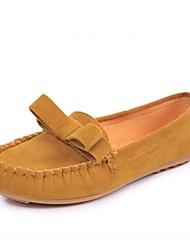Mocasines ( Negro/Amarillo/Rojo/Beige Comfort/Dedo redondo - Plataforma - Piel - para MUJERES