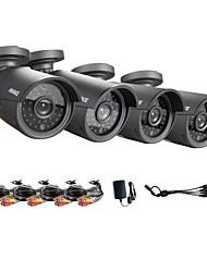 annke® ahd 720p hd kit câmera de segurança de filtro de corte IR, metal outdoor prova ip câmera caixa vandalismo / analogia