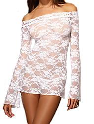 Women's Long Sleeve Rose Lace Sexy Sleepwear