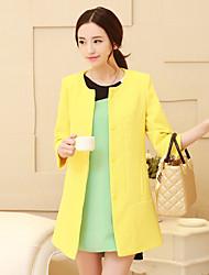 Women's Blue/Red/White/Black/Yellow Blazer , Work Long Sleeve