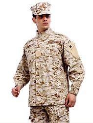 ESDY  Men's Desert Camouflage BDU Uniform Cotton Polyester War Game Paintball Jacket + Pants