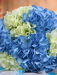 Wedding Bouquet Wedding Bride Holding Flowers,Silk Colth Simulation Hydrangea,Blue and White
