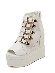Women's Shoes Peep Toe Platform Ankle Boots with Zipper More Colors available