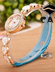 - Analog - Heart Shape - Armband-Uhr - für Damen