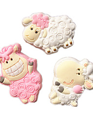 3pcs/Set Small Lovely Sheep Collection Fondant Cake Molds Soap Chocolate Mould For The Kitchen Baking For Sugar Candy
