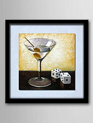 Oil Painting Abstract Still Life Wine Hand Painted Canvas Solid wood frame frameless paintings