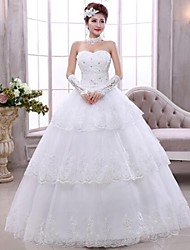 Ball Gown Ankle-length Wedding Dress -Sweetheart Lace