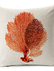 Modern Style  Sea Leaves Patterned Cotton/Linen Decorative Pillow Cover