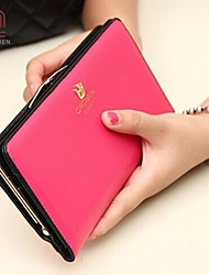 Handcee® Women Casual/Event/Party PU Button Wallets/Card & ID Holders/Coin Purses