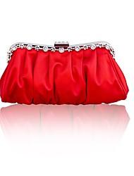 Handbag Silk Clutches/Mini-Bags/Top Handle Bags With Crystal/ Rhinestone