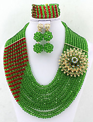 Bridal Crystal Jewelry Set African Wedding Gift Jewelry Set