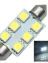 1.2W 12V 6000K 41MM-5050-6MD Lincense Plate And Tail Box Lighting LED Festoon Light for Car
