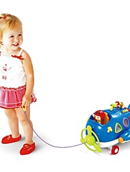 Baby Toys Pull Line Musical Plane with Blocks