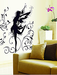 Environmental Removable Dance Fairy PVC Wall Sticker