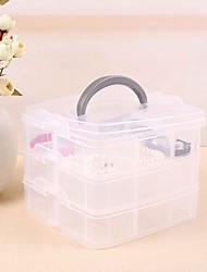 Three Tier Plastic Transparent Jewelry Storage Boxes