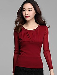 Women's Render Round Collar Long Sleeve Skirts