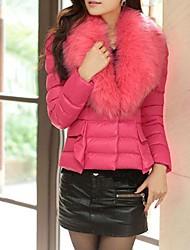 Women's Shawl Coats & Jackets , Feather Casual Long Sleeve CYC
