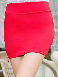 Women's Sex Pure Color Mini Skirt