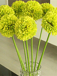 Five Green Hyfrangeas Artificial Flowers