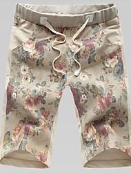 Shorts ( Gelb/Grau , Baumwolle ) - für Freizeit - für MEN - Bedruckt