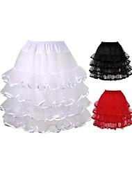 Unterhosen Knielänge Polyester Organza Weiß Schwarz Rot