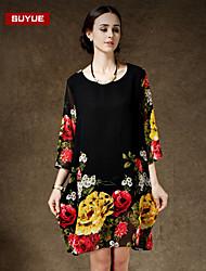 Suyue® High Quality Women's  Loose Plus Size Slim Chiffon Dress