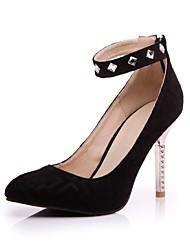 Scarpe Donna - Scarpe col tacco - Ufficio e lavoro / Formale - Tacchi / A punta - A stiletto - Finta pelle - Nero / Rosso / Blu scuro
