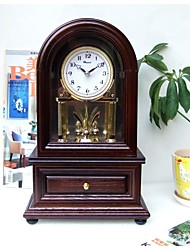"Modern/Home/Hotel/Wood/Tablel Clock/Brown Color/7.875*4.125*12.25""/Japan Seiko Movement"