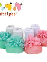 Attipas Super Lightweight Baby Girls Handmade Lace Infant Shoes Anti-slide First Walker Corsage Style Cute Toddler Shoes