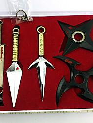 Arma Inspirado por Naruto Cosplay Animé Accesorios de Cosplay Arma Negro / Dorado Aleación Hombre / Mujer
