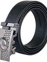 fondsun mens nuovo stile nero da cintura fashion business casuale larghezza genuino 3,5 centimetri di pelle (11)