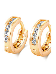 Women's 18K Gold Plating Inlay Zircon Earrings