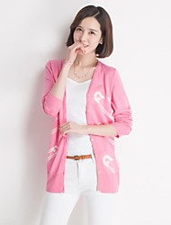 Women's Blue/Pink Cardigan , Casual Long Sleeve