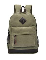 Unisex's Canvas Laptop Shoulder Bag Travel Backpack