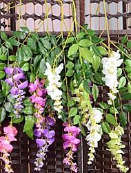 1Pc 3 Rama Seda / Plástico Orquídea Flor de Mesa Flores Artificiales #(74*20*2 cm(29.1*7.9*0.8 in))
