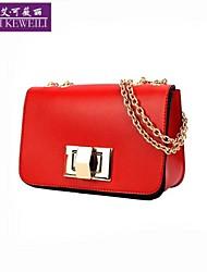 BELLS®Women's Handbag Fashion Korean Style Iron Chain Single Shoulder Bag PU Leather Casual Crossbody Bag